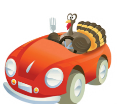 Hungry Turkey Driving