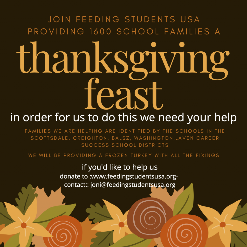 Feeding Students USA Thanksgiving Feast Call for Help
